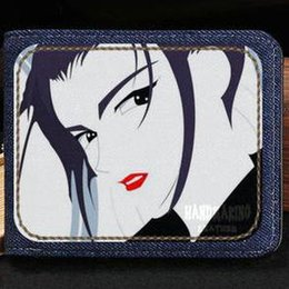 note styles Canada - Faye Valentine wallet Cowboy Bebop style purse Red tail anime short cash note case Money notecase Leather jean burse bag Card holders