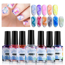 Wholesale 15 ML Watercolor Ink Nail Polish Blooming Gel Smoke Effect Smudge Bubble DIY Nail Art Purple Green Manicure for Decoration