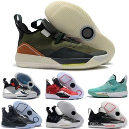 Wholesale 2019 High Quality Travis x Air NRG Army Olive Mens Basketball Shoes Jumpman XXXIII s Designer Retro Sneakers Size