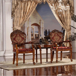 Italian Style Tables Australia - Antique Style Italian Dining Table, 100% Solid Wood Italy Style Luxury marble Dining Table Set o1123
