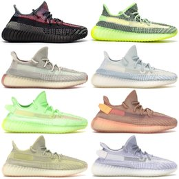Reflective Yeshaya Yecheil Yeezreel Men Women Shoes Kanye West Clay Gid Glow Black Static Designer Sneakers Citrin Cloud White Synth Runner from women eyelashes suppliers