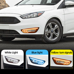 focus drl led NZ - 2PCS For Ford Focus 3 mk3 2015 2016 2017 2018 LED DRL daytime running lights daylight with Yellow signal fog lamp