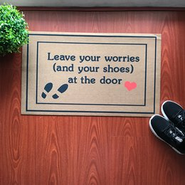 Light take online shopping - Doormat Entrance Floor Mat Funny Doormat Leave Your Worries And Your Shoes Take Remove Off Shoes Outdoor Rubber Door Mat