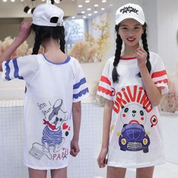 Wholesale girls lycra t shirt for sale – custom Children s three piece big and medium sized girl swimsuit princess split big T shirt skirt baby girl hot spring swimsuit