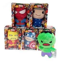 wedding doll games UK - Movie cartoon small pendant plush toy Avengers Union wedding event gift catch baby doll doll children gifts kids toys
