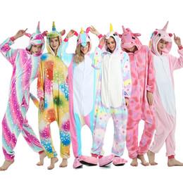Browns onesie online shopping - 2019 Winter Animal Pajamas Stitch Sleepwear Unicorn Pajamas Onesie Sets Kigurumi Women Men Unisex Adult Flannel Nightie Overalls