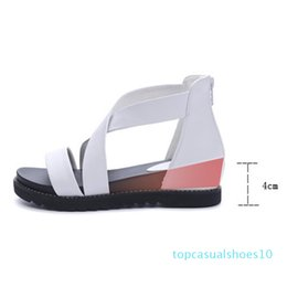 height increasing sandals NZ - Wedges Women Sandals 2017 New Fashion Summer Women Shoes Height Increasing Rome Casual Shoes t10
