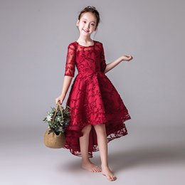 Piano costumes online shopping - Summer children s dress princess dress girl fluffy yarn short short long piano costume show host