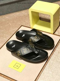 Discount famous slippers - New Famous Brand Men's Flat Sandals Cheap Casual Shoes Male Double Buckle Summer Beach Top Quality Genuine Leather