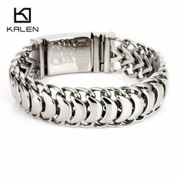 $enCountryForm.capitalKeyWord NZ - Kalen New High Polished Shiny Bracelets Stainless Steel Bike Link Chain Bike Chain Bracelets Fashion Male Accessories 2018 MX190727