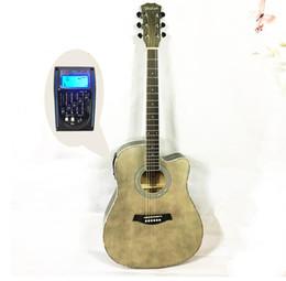 $enCountryForm.capitalKeyWord Australia - 41 inch folk acoustic guitar electric box EQ Basswood mid-range missing matte guitar free shipping