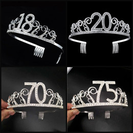 Cake Crowns online shopping - Cake Baking Crown Headband Sliver Color Decortaive Princess Hair Hoop Party Headwear Birthday Party Decorations years5 mr E1
