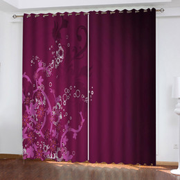 wall curtains Australia - Window Blackout 3D Curtains Purple background pattern set For Bed Living room Office Hotel Home Wall Decorative Drape tapestry