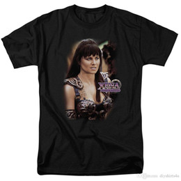 $enCountryForm.capitalKeyWord NZ - Xena Warrior Princess Lucy Lawless Licensed Adult T Shirt T Shirt Men's Digital Direct Printing Short Sleeve Crewneck Cotton Camiseta