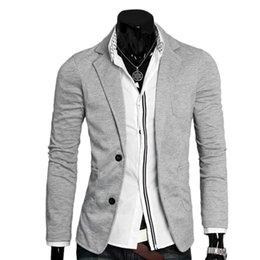 Suit Outerwear Male Australia - Men's Casual Suits Ultra-slim Slim Jacket Single Button cotton blazer Male Turn-down Collar Business Outerwear Spring Autumn #551099