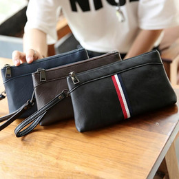 leather mens cell phone holder wallet 2019 - factory sales brand bag Korean fashion color leather men hand bag casual mens sportswear men wallet hand bag Men Wallet