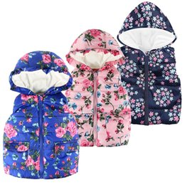 China MUQGEW Jacket for Toddler Kids Baby Grils Boys Sleeveless Floral Print Hooded Warm Coat Tops vest for girls winterjas meisjes supplier boys vest jackets suppliers