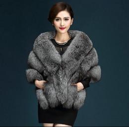 $enCountryForm.capitalKeyWord Australia - 2016 Latest Winter Faux Fur Coats luxury fox fur imitation mink poncho bridal wedding dress shawl cape women vest coat