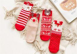 Cute brown bear online shopping - Christmas Womens Socks Cartoon Bear Cute Womens Hosiery Cotton Striped Printed Female Socks