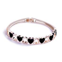 $enCountryForm.capitalKeyWord NZ - 2019 Popular New Jewelry Heart Link Bracelet Fashion Vintage Jewelry Crystal Bracelet for Women Alloy Red Heart