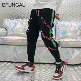 $enCountryForm.capitalKeyWord NZ - EFUNGAL Side Stripe Button Ribbons Track Pants Hip Hop Harem Sweatpants Men Cotton Black Harajuku Joggers Casual Streetwear FD60