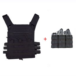 combat molle vest Australia - Tactical Vest Army Combat Hunting Plate Carrier MOLLE Protective Vest Paintball Body Armor With Triple Magazine Pouch