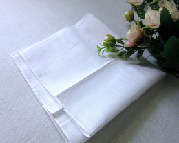 White Cotton Napkins Australia - Wholesale men's cotton white handkerchief 28cm white towel napkin cotton white small towel, painting tie-dyed towel