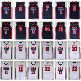 1992 Dream-Team One # 8 Scottie Pippen # 9 Michael # 10 Clyde Drexler # 11 Karl Malone # 12 John Stockton Jersey # 13 Chris Mullin Jersey Johnson im Angebot