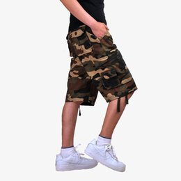 44 cargo shorts UK - Tactical Shorts Men Fashion Joggers Camouflage Cargo Shorts Summer Camo Body Fitness Short Masculino Clothing Plus Size 44