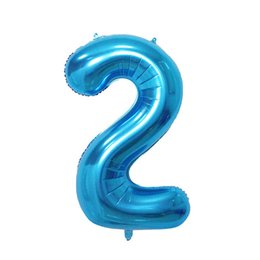 $enCountryForm.capitalKeyWord UK - cheap 32 Inch Helium foil Number Balloon new blue Inflatable Balloons Birthday Wedding Decoration Party Supply Number balloons Retailing