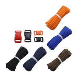 braiding kit UK - 7 Strand Paracord Buckles Kit Parachute Cord Lanyard Rope For DIY Braided Bracelet Pendant Clothesline Outdoor Tools