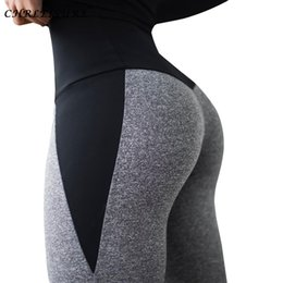 bodybuilding women leggings clothing Australia - CHRLEISURE Patchwork Push Up Women Leggings High Waist Fitness Leggings For Ladies Bodybuilding Sportswear Clothing