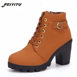 $enCountryForm.capitalKeyWord Canada - Designer Dress Shoes FeiYiTu Ladies Platform high heel vintage women Autumn Winter martin woman Warm EU Size 35-41 yellow green