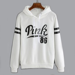 pink clothing women NZ - White Pink Hoodies Women Sweatershir 2020 Autumn New Hot Sale Letter Printed Pullovers Long Sleeve Top Casual Female Clothes