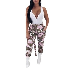 camouflage outfits women Australia - Pink Camouflage Cargo Pants Hip PopTrends Fashion Ladies Girls Sexy Promotion LS6114 Camo Leopard Club Party Outfits Streetwear Clubwear