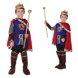 teenage costumes Canada - Halloween Cosplay Costume for Children The King Costumes Children's Day Boys Prince Fantasia Infantil kids Arabic costume costume