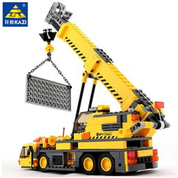 $enCountryForm.capitalKeyWord Australia - 380pcs City Crane Truck Urban Engineering Technic Creator Model Building Blocks Sets Diy Bricks Educational Toys For Children J190719