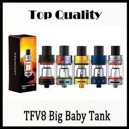 Cloud Atomizers Wholesale Australia - Single SMOKING TFV8 Big Baby Tank with 5ml Top Filling Airflow Control Cloud beast V8 Baby-M2 Coils Atomizer stick v8 vaporizer 0266143-1