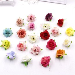 fresh flower wholesalers Australia - 20pcs Fresh and artificial flowers small tea bud Simulation small tea rose silk flower decoration flower head DIY accessories D19011101