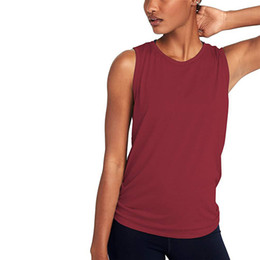 528a69c6ce3 Casual Women's Sport Fitness Vest O Neck Sleeveless Tank Tops Hollow Out  Athletic Undershirt Pure Color Quick Dry Tops Summer