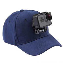 topi caps UK - For Go Pro Accessories Outdoor Sun Hat Topi Baseball Cap W Holder Mount for GoPro HERO5 HERO4 Hats & Caps Hats, Scarves & Gloves Session HER