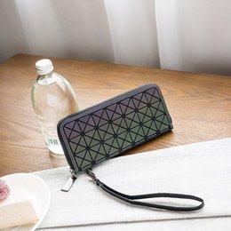 $enCountryForm.capitalKeyWord Australia - Fashion Geometric Stitching Bag Long Multi-card Wallet Diamond Cube Wallet Multi-function Zipper Zero Women's Bag