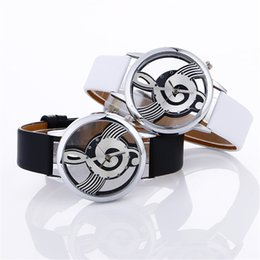 painting glasses 2019 - Ladies Womans Wrist Watch Musical Note Painting Leather Bracelet relogio femino montres femmes 2019 luxe kol saati cheap