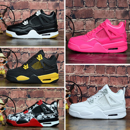 $enCountryForm.capitalKeyWord Australia - Cheap womens Jumpman 4 basketball shoes 4s Denim Black Cat Fire red Bred Oreo White J4 sneakers boots for youth kids baby boys