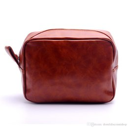 $enCountryForm.capitalKeyWord NZ - Wholesale Blanks PU Faux Leather Groom Bag Men's Shaving Bag Solid Color Zipper Makeup Bag DOM137