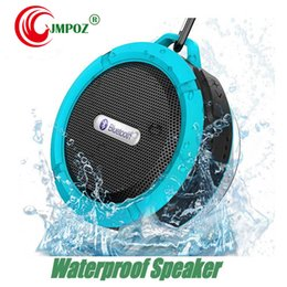 mini bluetooth sport speaker Australia - Bluetooth Speaker C6 IPX7 Outdoor Sports Portable Waterproof Wireless Suction Cup Handsfre Stereo Player for IOS Android Device