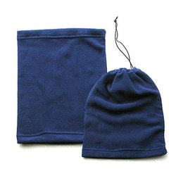 $enCountryForm.capitalKeyWord Australia - Blue Polar Fleece Neck Warmer Thermal Snood Scarf Hat Ski Wear Snowboarding