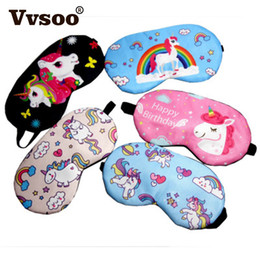 $enCountryForm.capitalKeyWord Australia - Cute Unicorn Sleeping Eye Mask Cartoon Blindfold Eye Soft Cover For Girl Kid Teen Traveling Sleep Eyeshade Party Gift