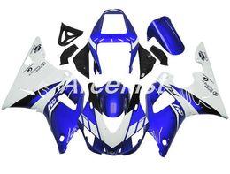 $enCountryForm.capitalKeyWord Australia - 4Gifits New ABS Compression Mold motorcycle plastic Fairings Kits Fit For YAMAHA YZF-R1-1000 1998-1999 98 99 Fairing bodywork set blue white