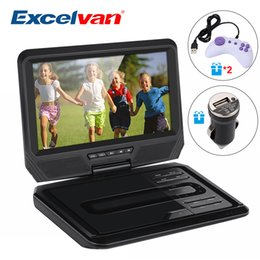 Home Multimedia Player NZ - Excelvan 9 Inch Portable DVD Player Digital Multimedia Player Support USB SD TV CD Speaker VCD DVCD MP4 Within 64 Kinds Of Game